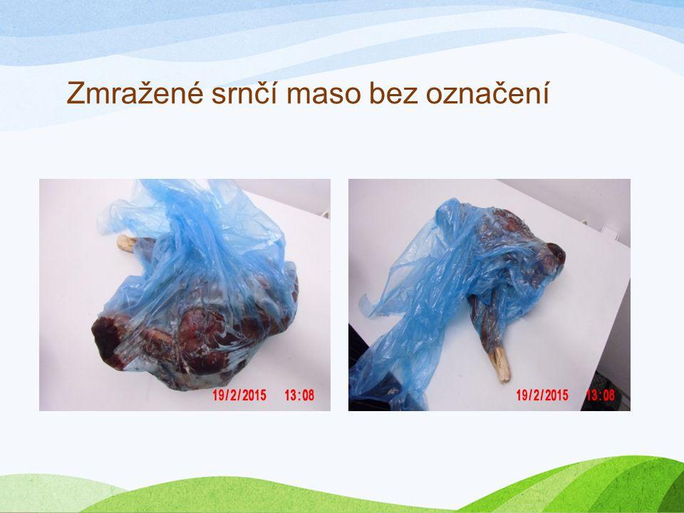 Zmražené srnčí maso bez označení