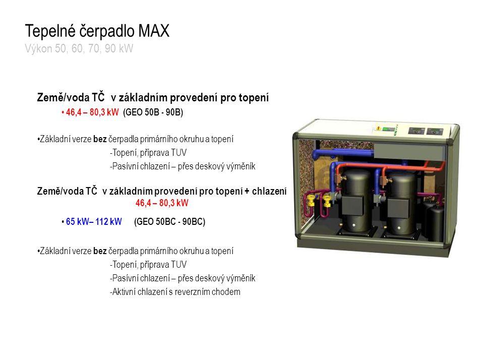 Tepelné čerpadlo MAX Výkon 50, 60, 70, 90 kW