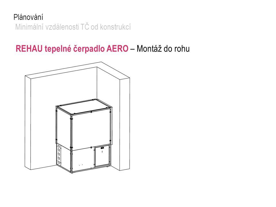REHAU tepelné čerpadlo AERO – Montáž do rohu
