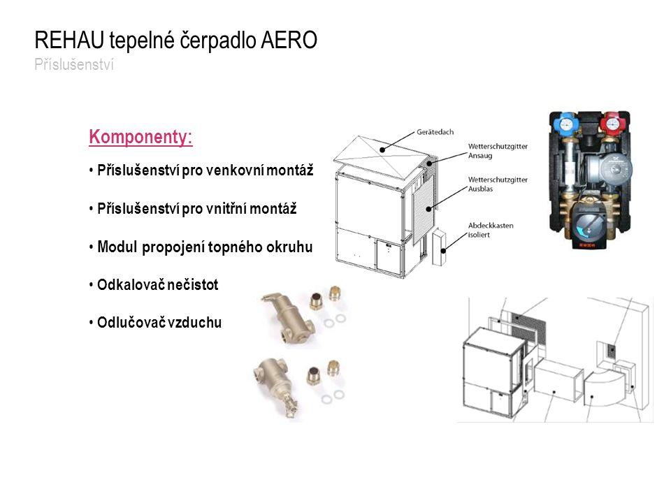 REHAU tepelné čerpadlo AERO Příslušenství