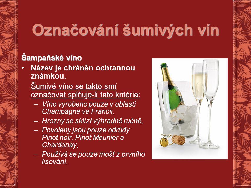Označování šumivých vín