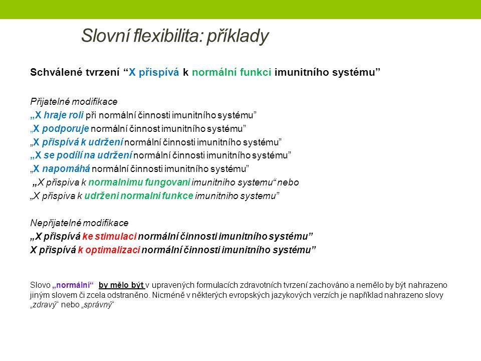 Slovní flexibilita: příklady