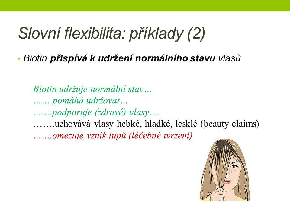 Slovní flexibilita: příklady (2)