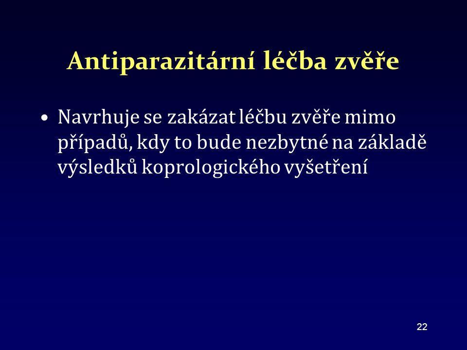 Antiparazitární léčba zvěře
