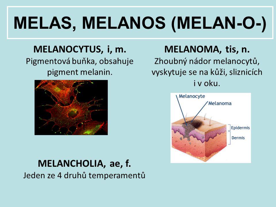 MELAS, MELANOS (MELAN-O-)