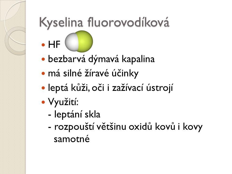 Kyselina fluorovodíková