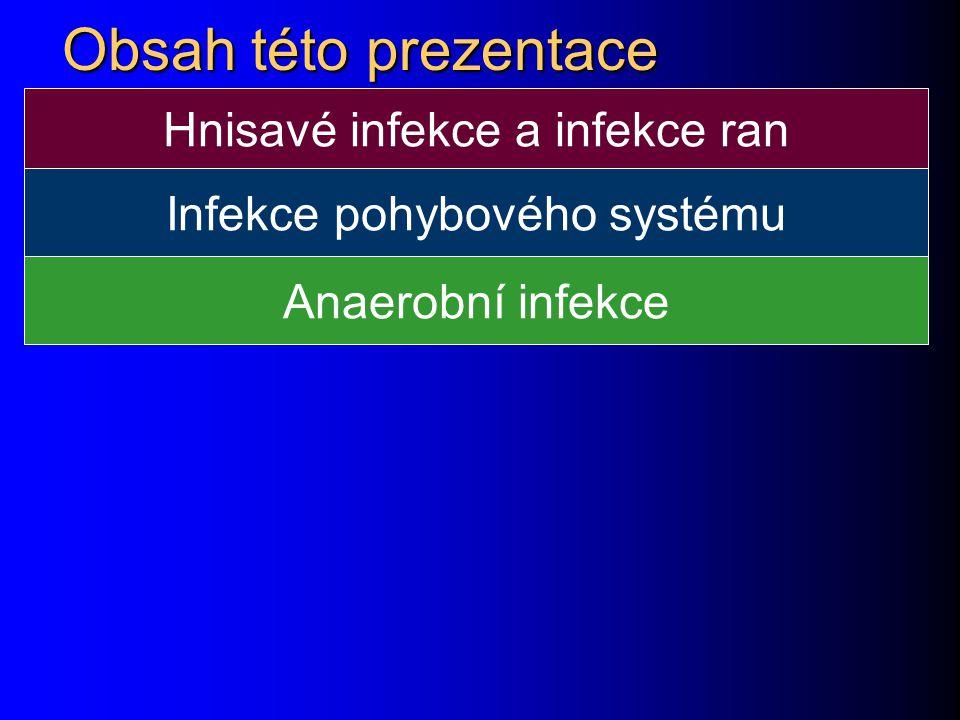 Obsah této prezentace Hnisavé infekce a infekce ran