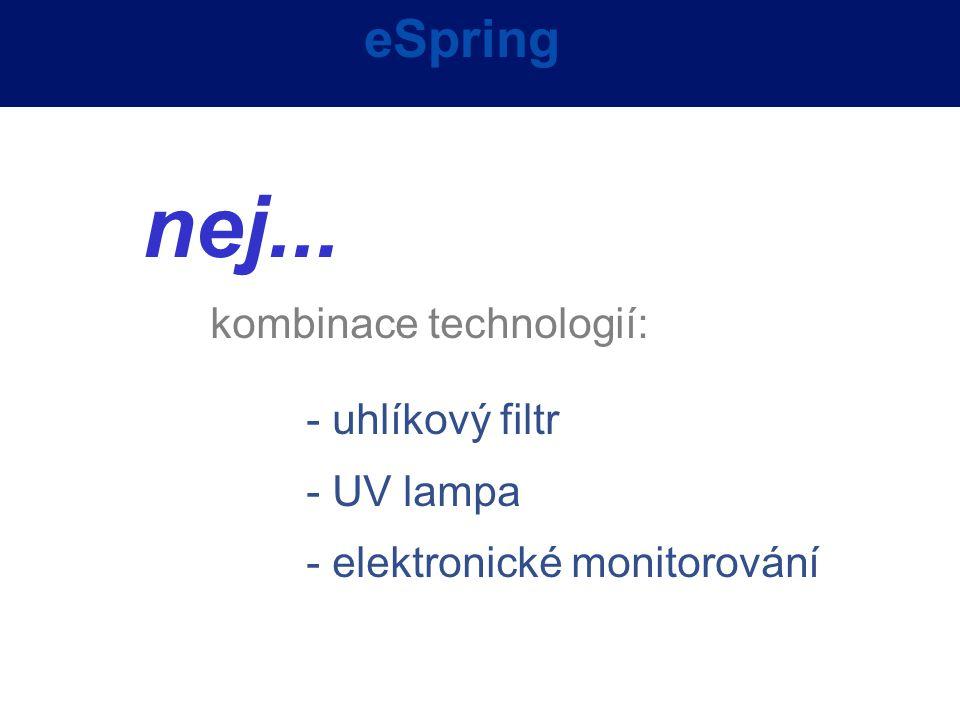 nej... eSpring kombinace technologií: - uhlíkový filtr - UV lampa