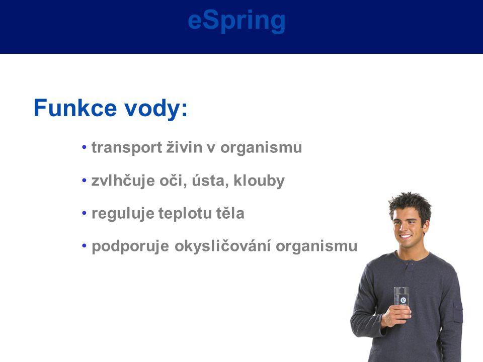 eSpring Funkce vody: transport živin v organismu