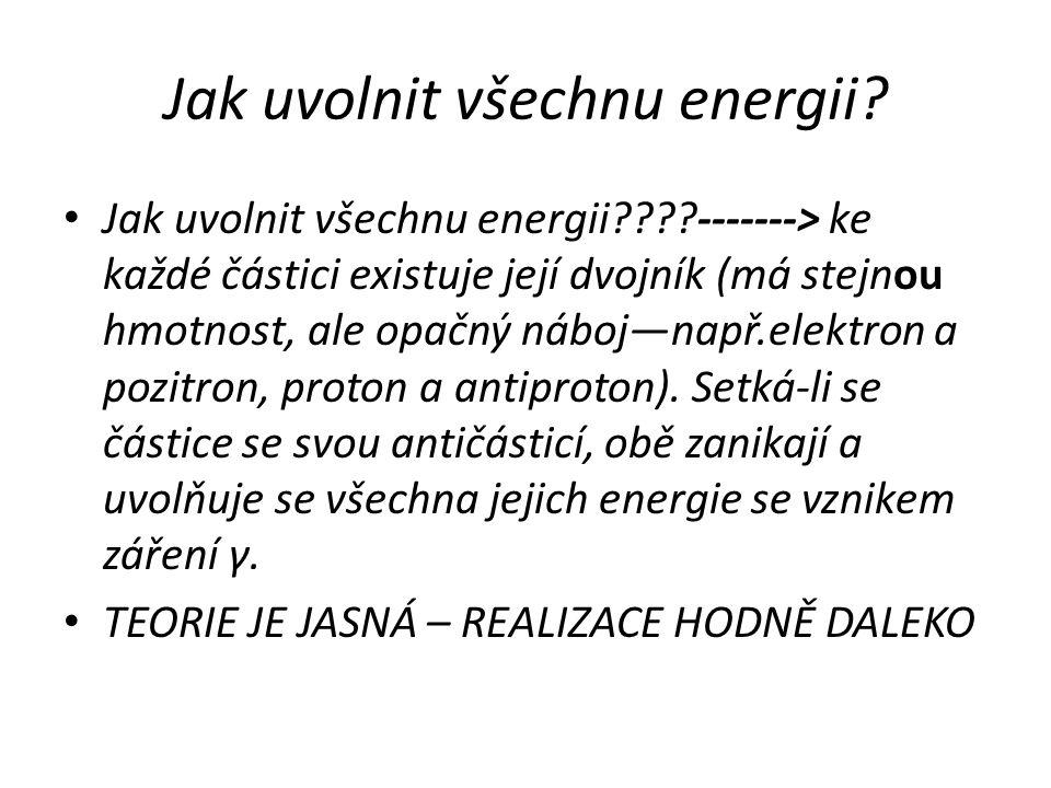 Jak uvolnit všechnu energii