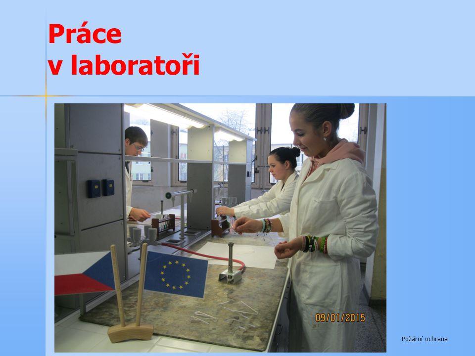 Práce v laboratoři Požární ochrana