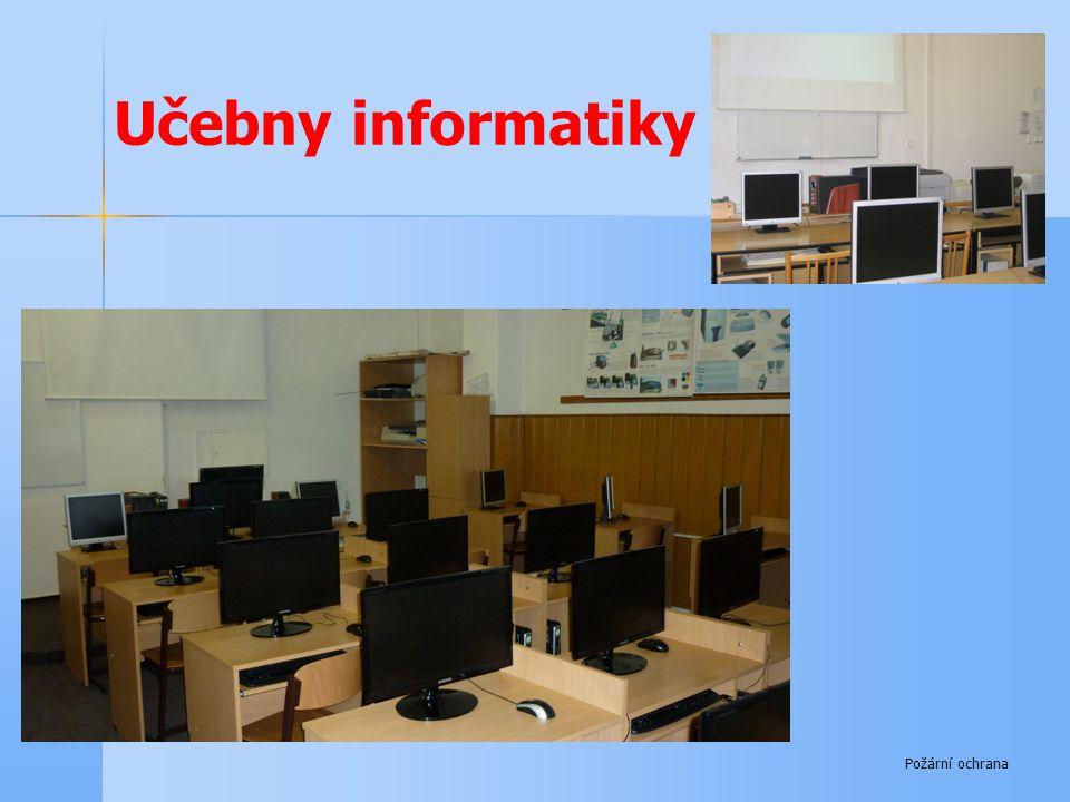 Učebny informatiky Požární ochrana