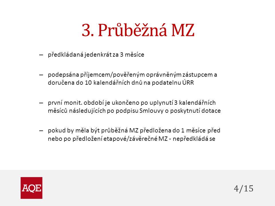 3. Průběžná MZ 4/15 předkládaná jedenkrát za 3 měsíce