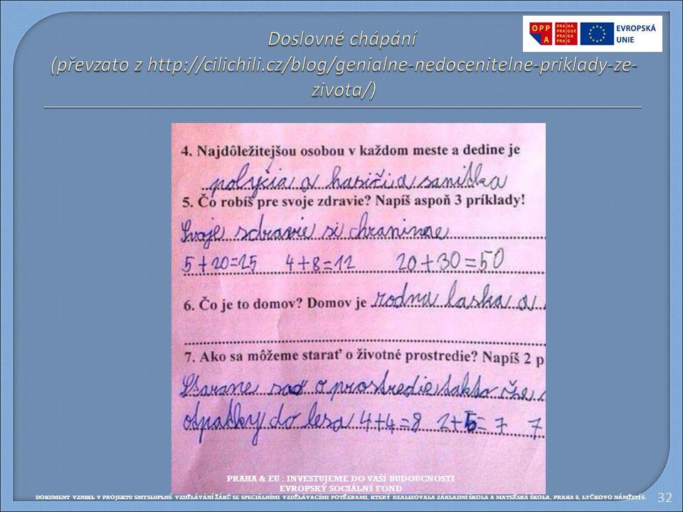 Doslovné chápání (převzato z http://cilichili