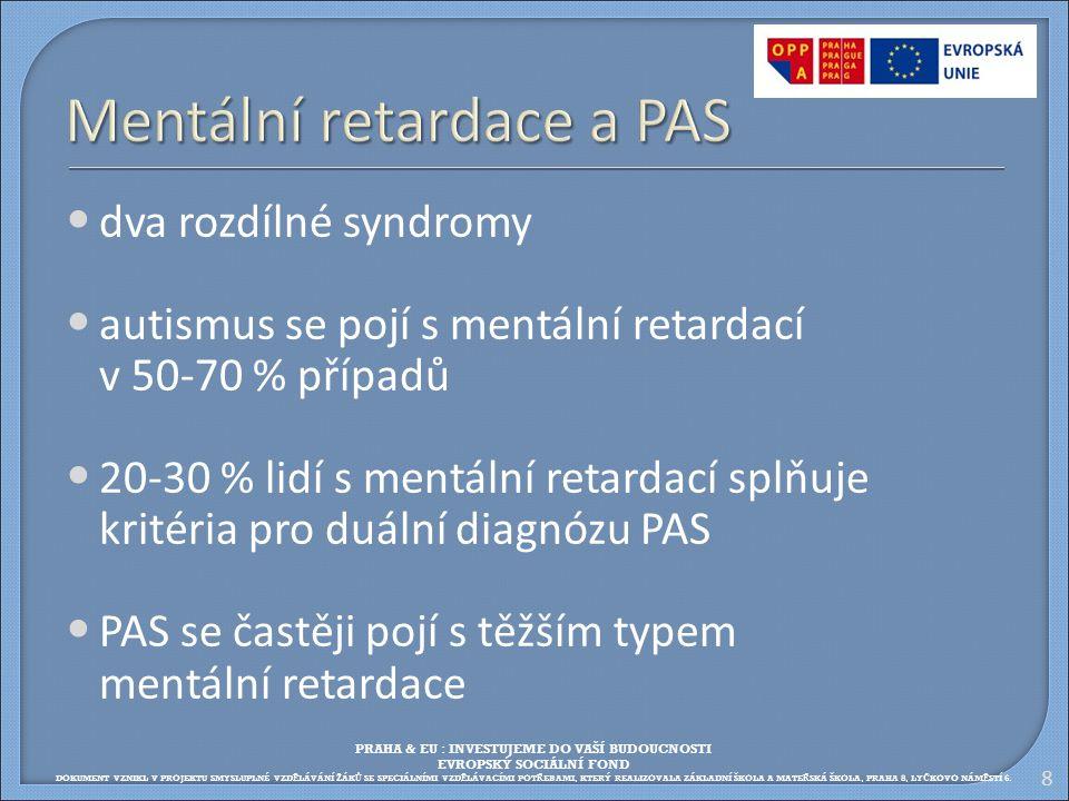 Mentální retardace a PAS