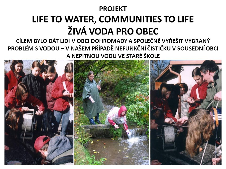 LIFE TO WATER, COMMUNITIES TO LIFE