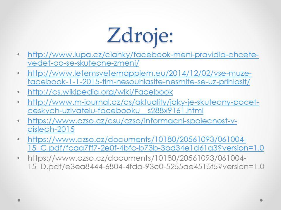 Zdroje: http://www.lupa.cz/clanky/facebook-meni-pravidla-chcete-vedet-co-se-skutecne-zmeni/