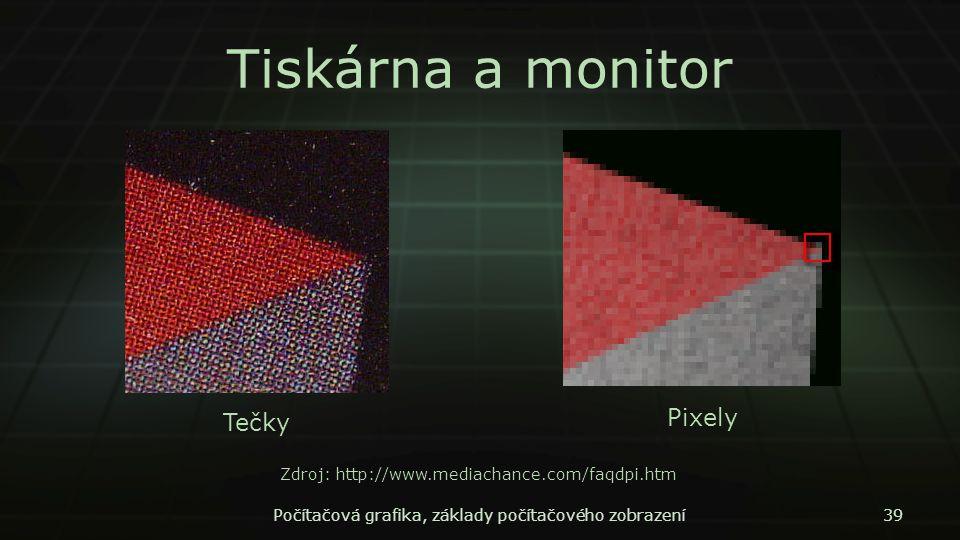 Tiskárna a monitor Pixely Tečky