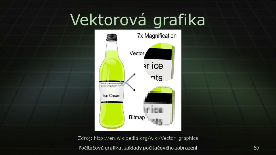 Vektorová grafika Zdroj: http://en.wikipedia.org/wiki/Vector_graphics