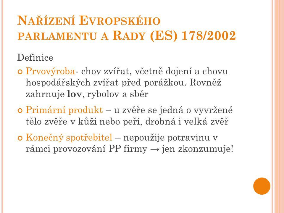Nařízení Evropského parlamentu a Rady (ES) 178/2002