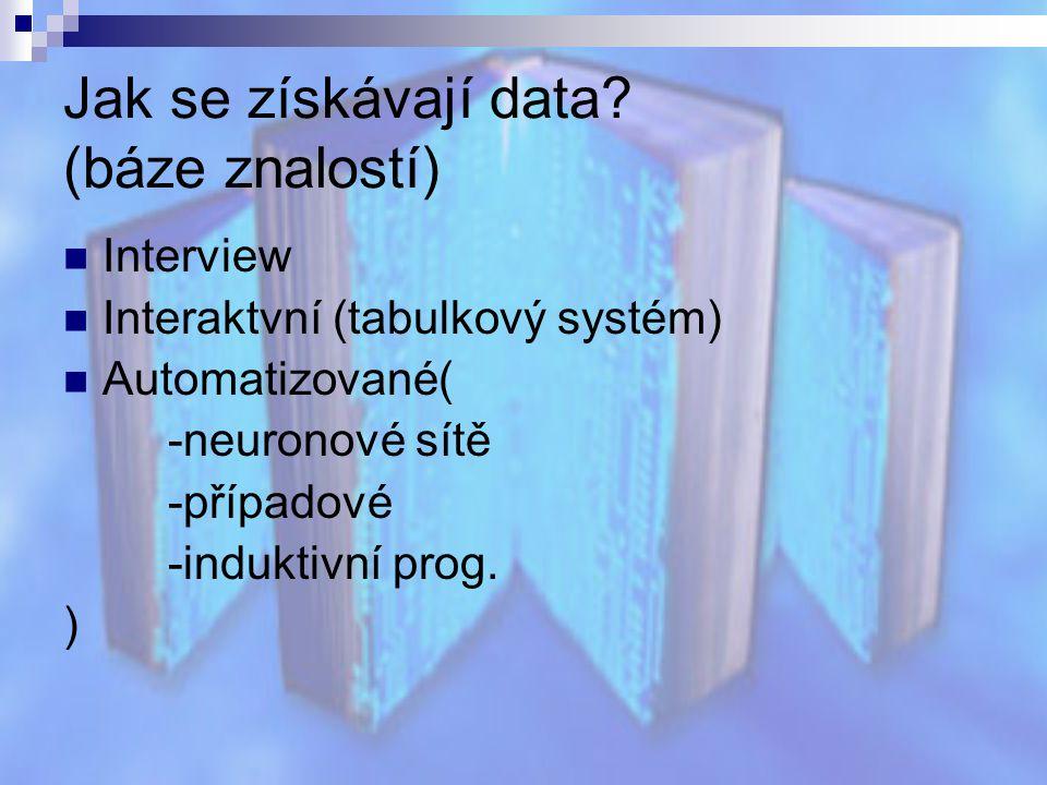 Jak se získávají data (báze znalostí)