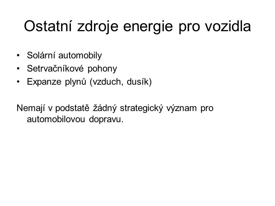 Ostatní zdroje energie pro vozidla