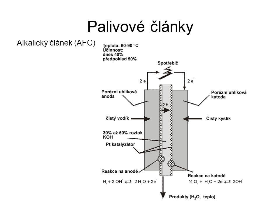 Palivové články Alkalický článek (AFC)