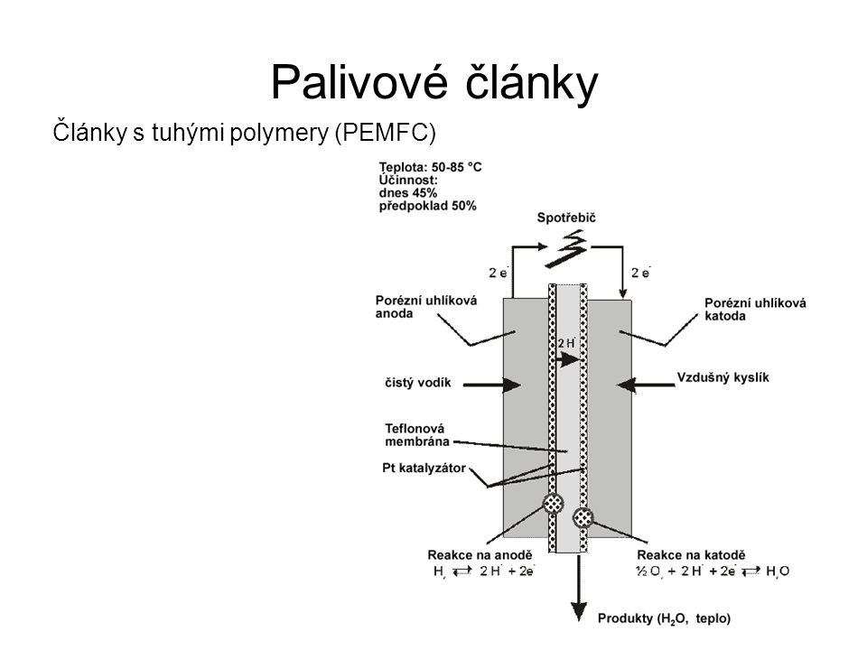 Palivové články Články s tuhými polymery (PEMFC)