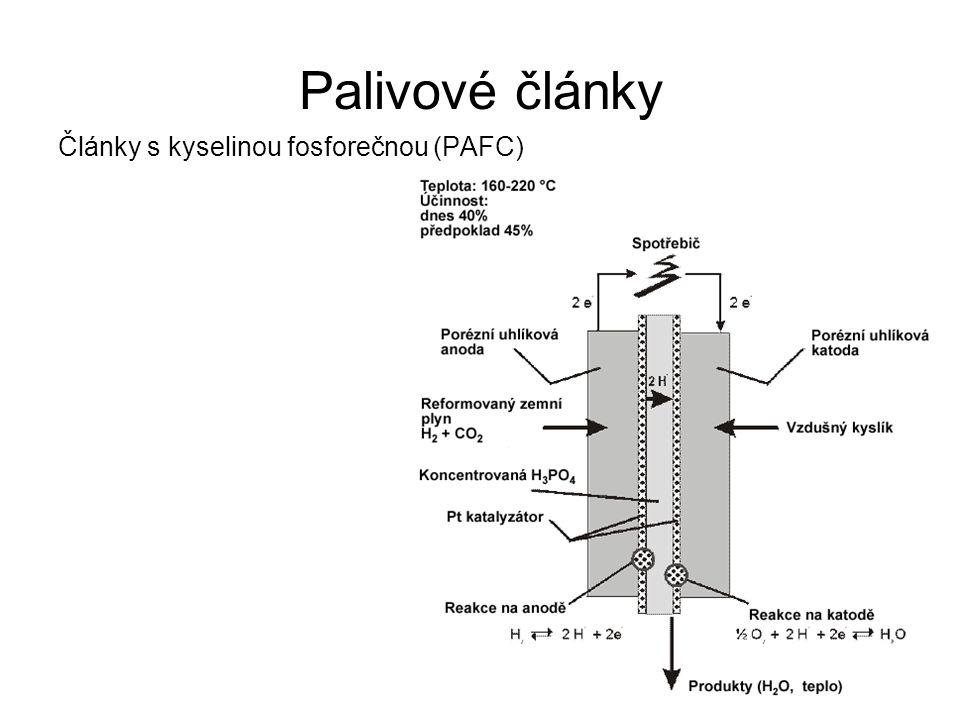 Palivové články Články s kyselinou fosforečnou (PAFC)