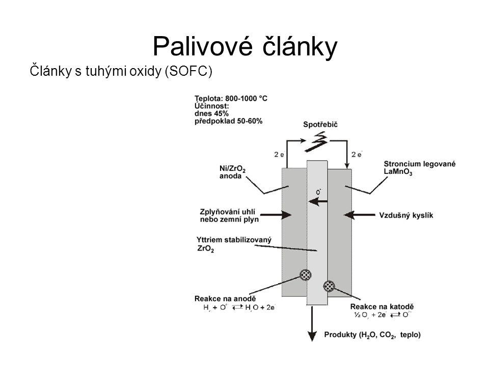 Palivové články Články s tuhými oxidy (SOFC)