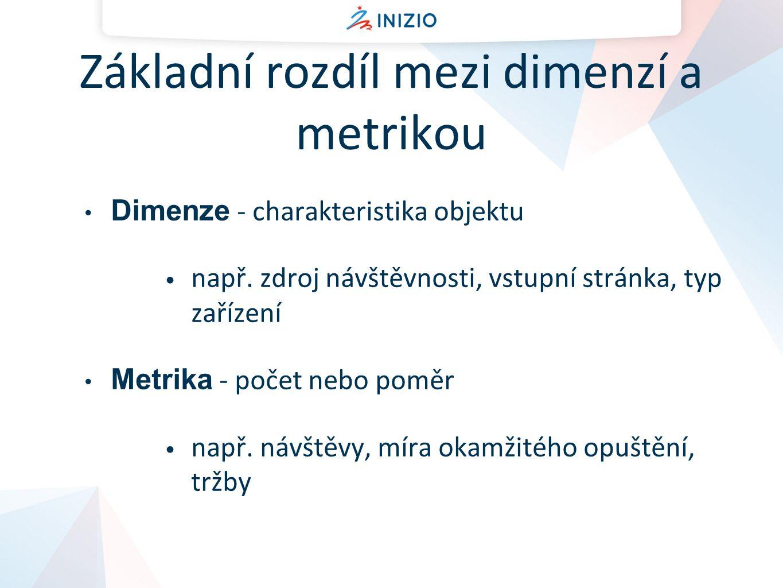 Základní rozdíl mezi dimenzí a metrikou