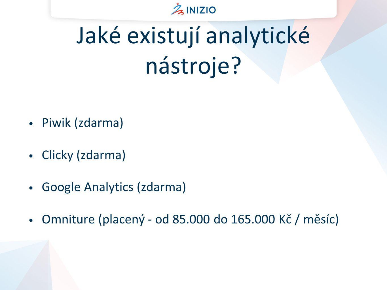 Jaké existují analytické nástroje