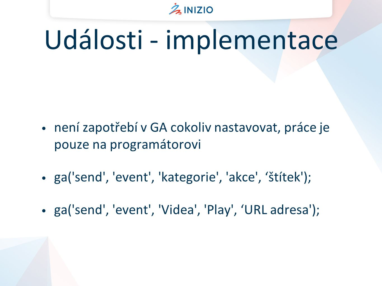 Události - implementace