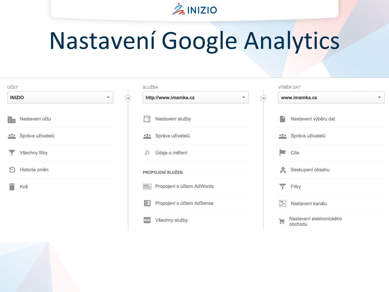 Nastavení Google Analytics