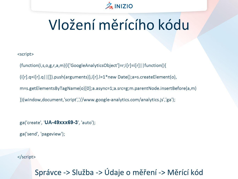 Správce -> Služba -> Údaje o měření -> Měrící kód