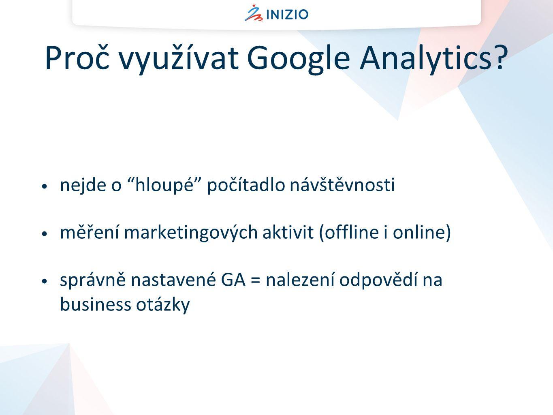 Proč využívat Google Analytics