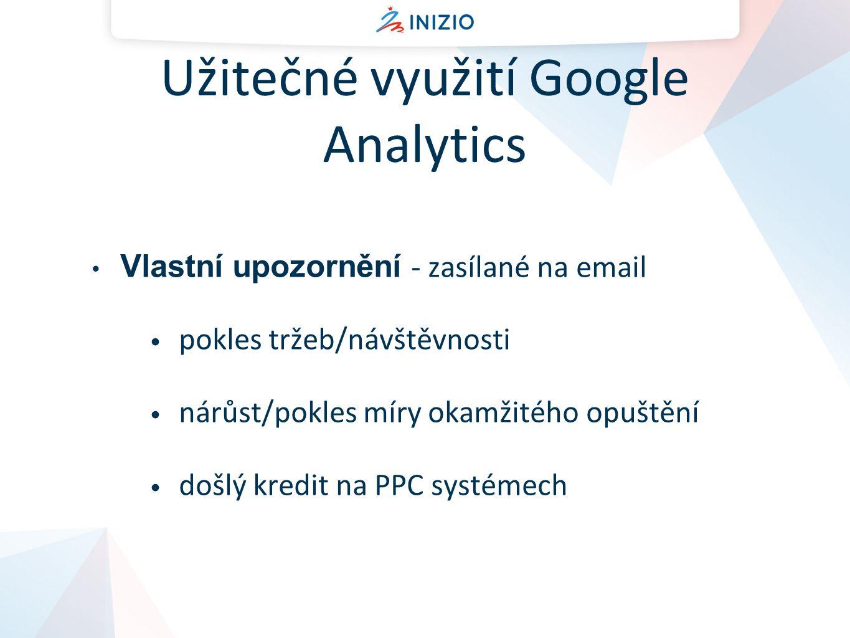 Užitečné využití Google Analytics