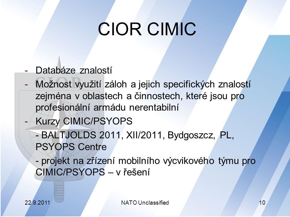 CIOR CIMIC Databáze znalostí