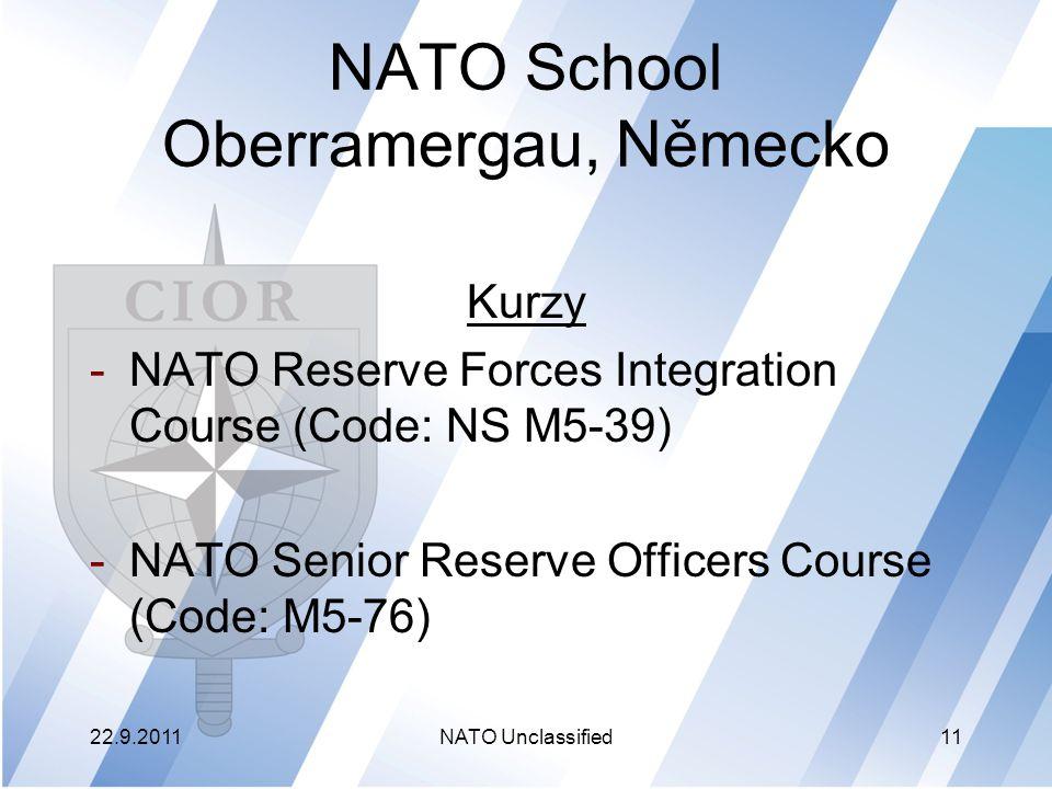 NATO School Oberramergau, Německo