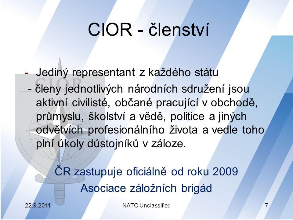 CIOR - členství Jediný representant z každého státu