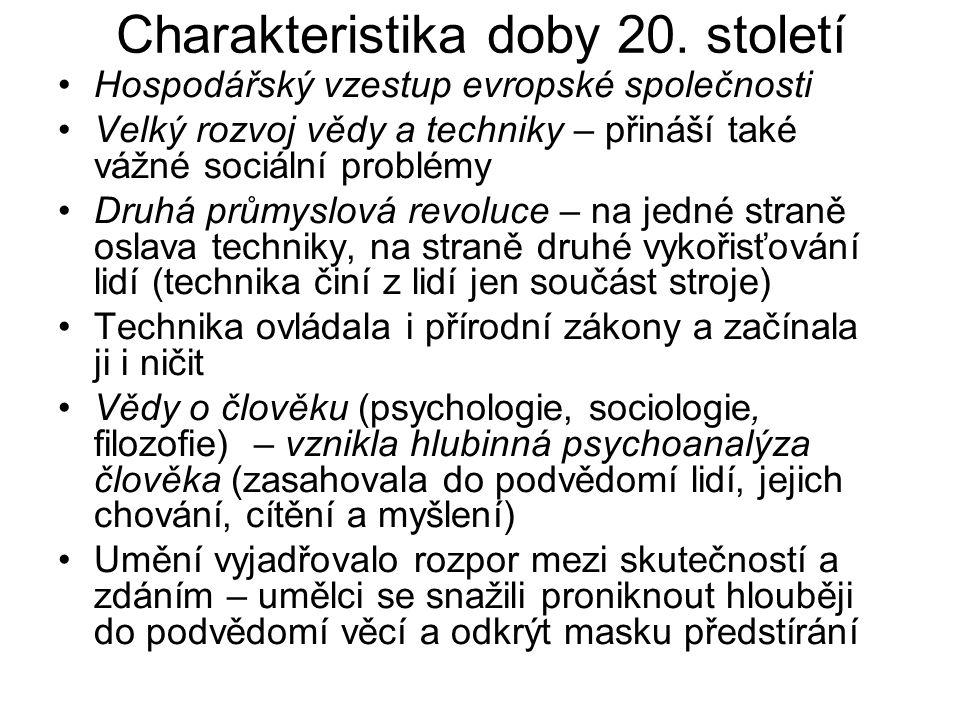 Charakteristika doby 20. století