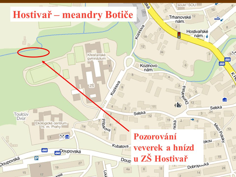 Hostivař – meandry Botiče