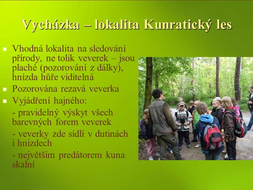 Vycházka – lokalita Kunratický les