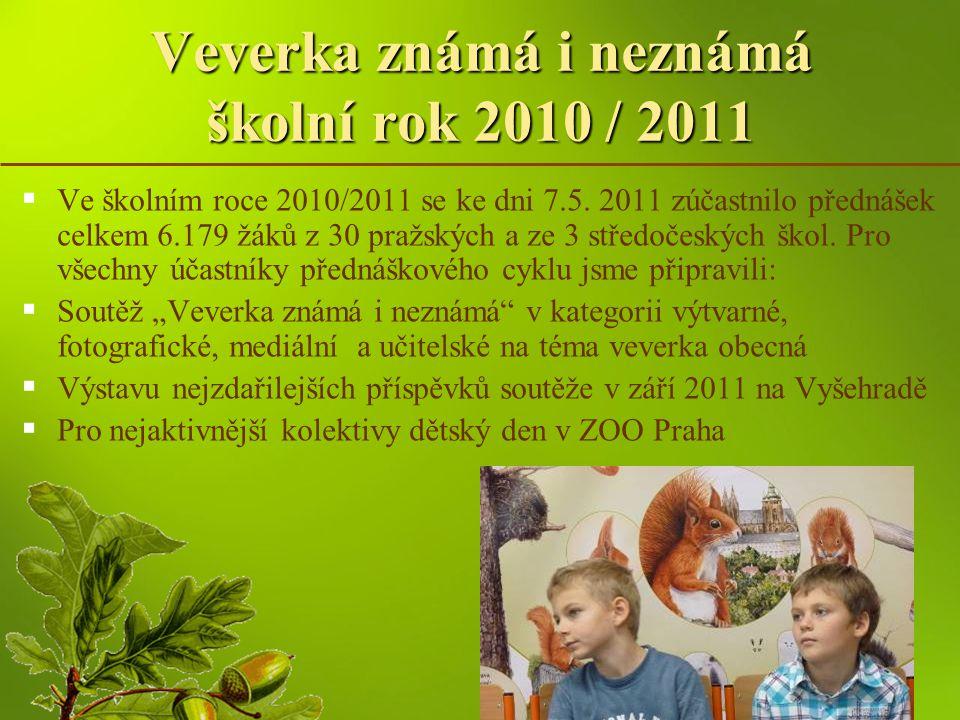 Veverka známá i neznámá školní rok 2010 / 2011