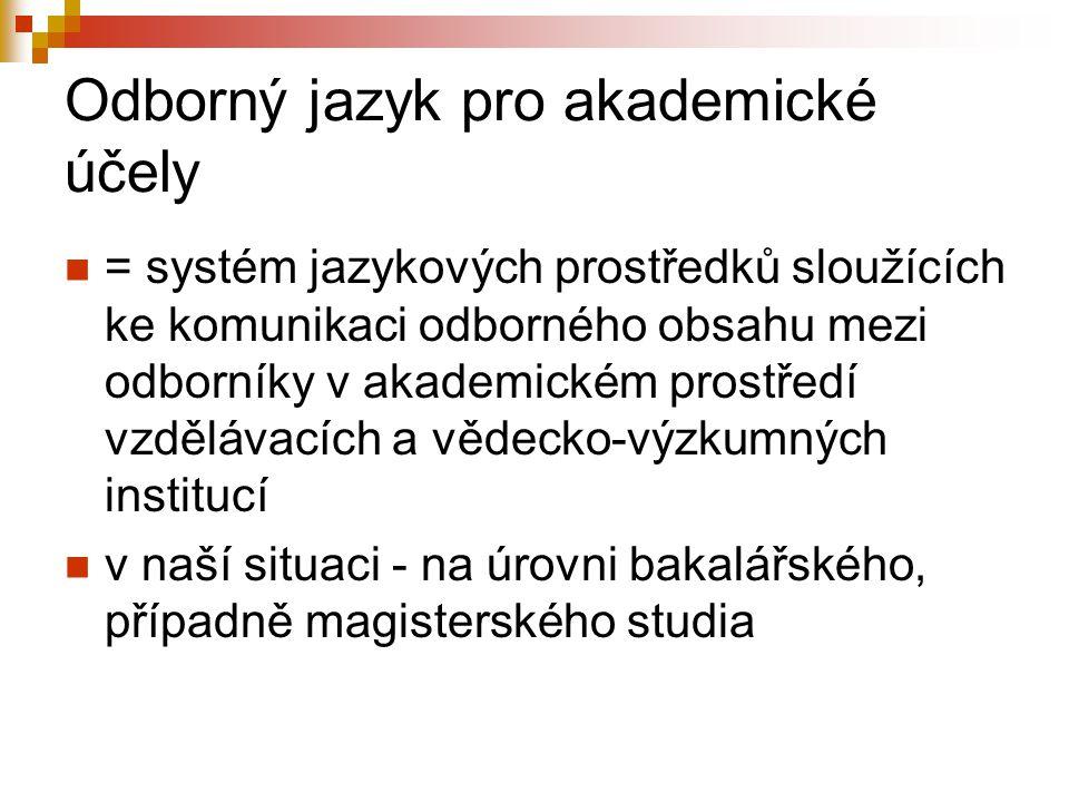 Odborný jazyk pro akademické účely