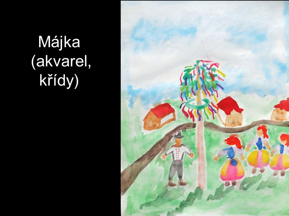 Májka (akvarel, křídy)