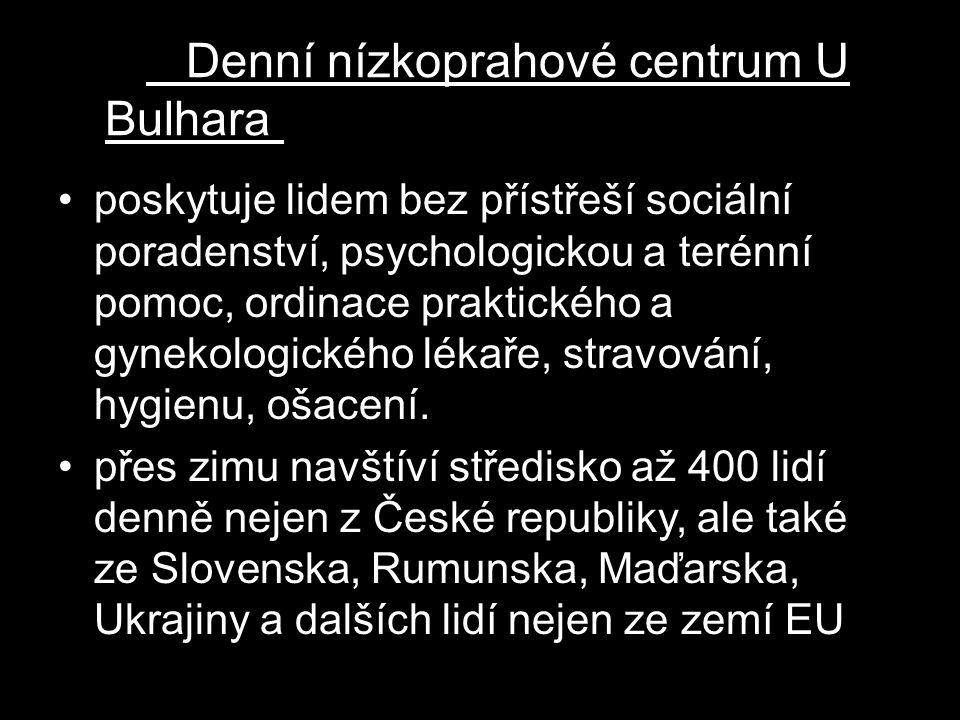 Denní nízkoprahové centrum U Bulhara m Naděje U Bulhara v Praze Denní nízkoprahové centrum Naděje U Bulhara