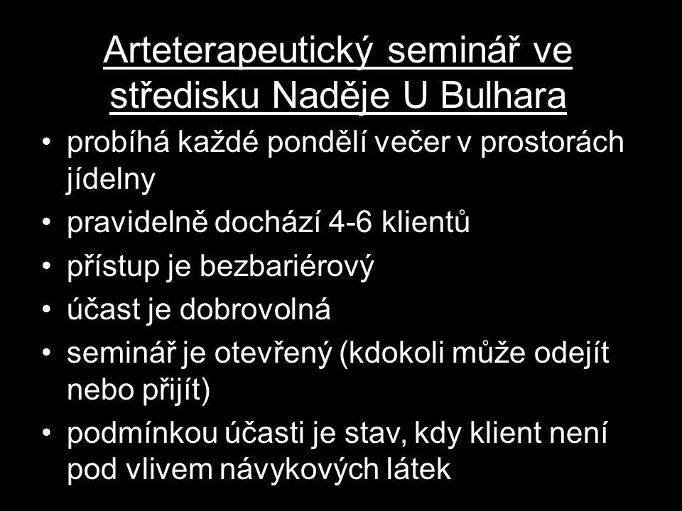 Arteterapeutický seminář ve středisku Naděje U Bulhara