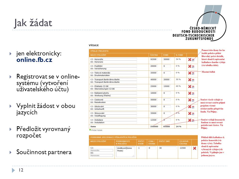 Jak žádat jen elektronicky: online.fb.cz