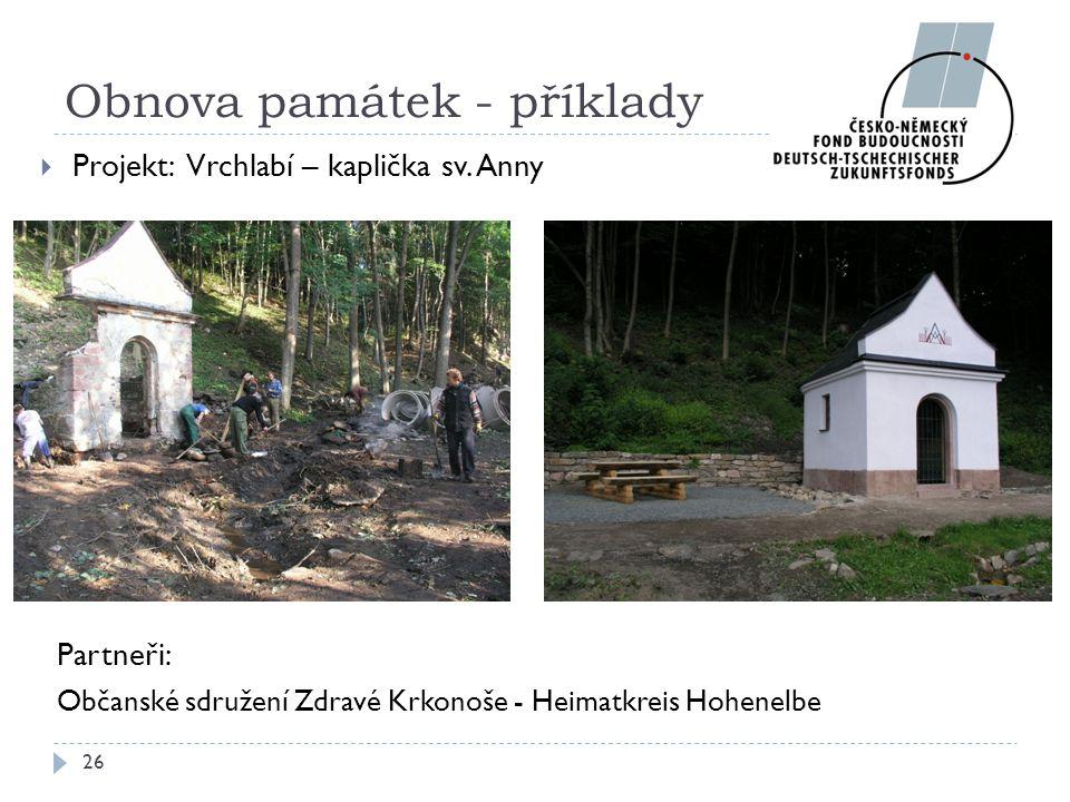 Obnova památek - příklady